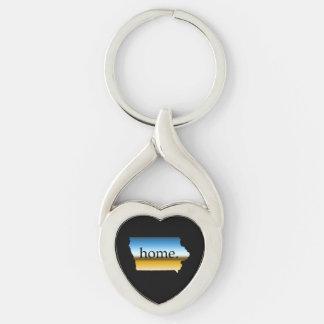 Iowa home Horizon Keychain