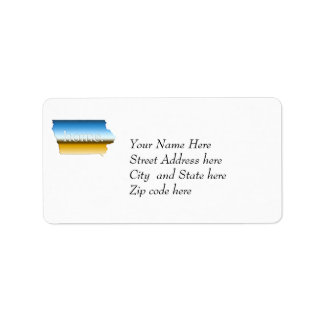 Iowa home Horizon Address Label