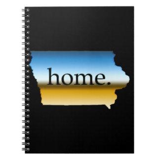 Iowa home Horizon Spiral Note Book