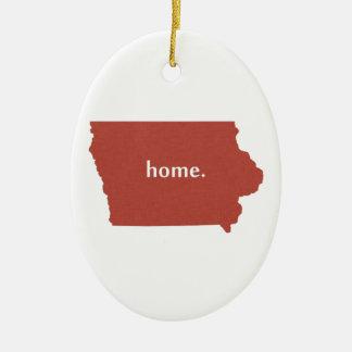 Iowa Home red Ceramic Ornament