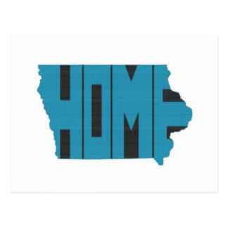 Iowa Home State Postcard