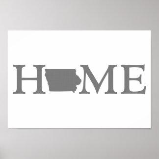 Iowa Home State Print