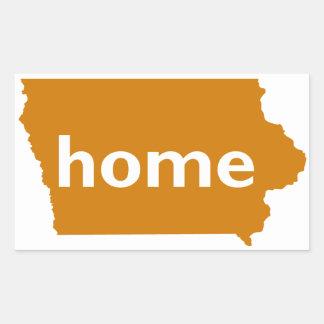 Iowa Home Rectangle Stickers