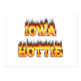 Iowa hottie fire and flames business card templates