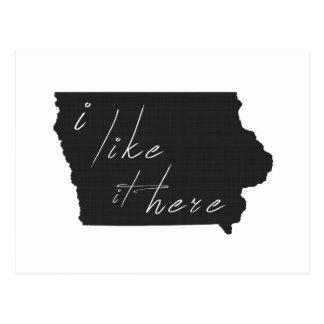 Iowa I tiene gusto de él aquí indica negro de la Postal