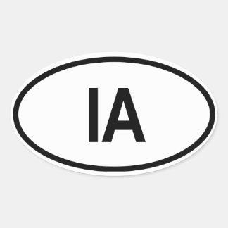 """IOWA """"IA"""" OVAL STICKER"""