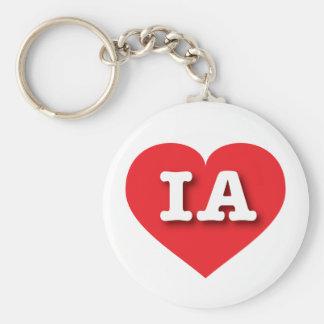 Iowa IA red heart Keychain