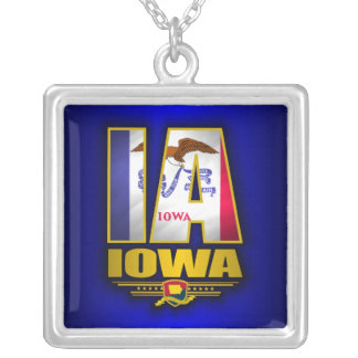 Iowa (IA) Silver Plated Necklace