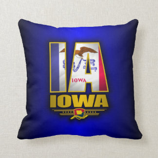 Iowa (IA) Throw Pillow