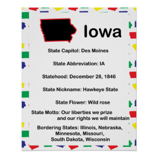 Iowa Information Educational Poster