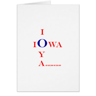 IOWA IOYA and IOWA IOU Inaugural 2009 gifts Card