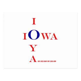IOWA IOYA and IOWA IOU Inaugural 2009 gifts Postcard