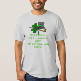 Iowa Irish Fest 2009 T Shirt