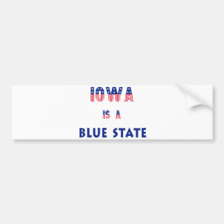 Iowa is a Blue State Bumper Sticker
