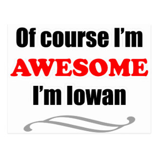 Iowa Is Awesome Postcard