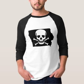 Iowa: Jolly Roger Nice T-Shirt