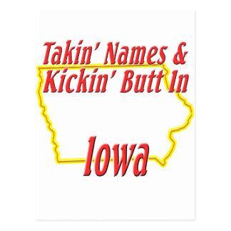 Iowa - Kickin' Butt Postcard