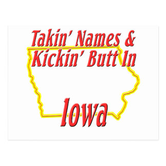 Iowa - Kickin' Butt Postcard