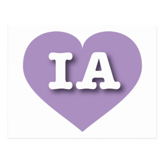 Iowa Lavender Heart - Big Love Postcard