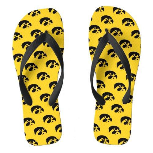 Iowa Logo   Hawkeye Flip Flops