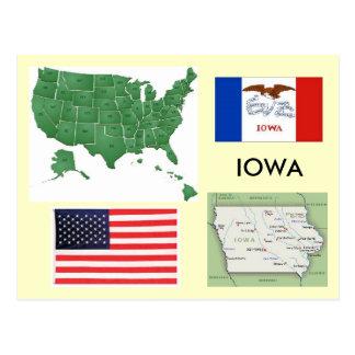 Iowa, los E.E.U.U. Tarjeta Postal