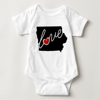 Iowa Love!  Gifts for IA Lovers Baby Bodysuit
