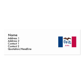 Iowa Map and State Flag Double-Sided Mini Business Cards (Pack Of 20)