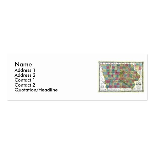 Iowa Map and State Flag Business Cards