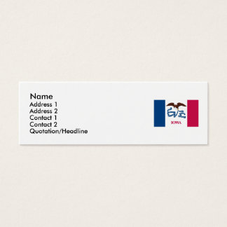 Iowa Map and State Flag Mini Business Card