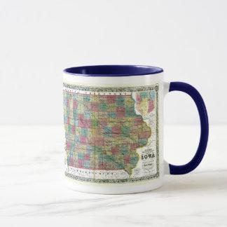 Iowa Map and State Flag Mug