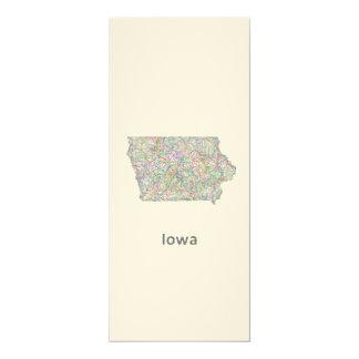 Iowa map card