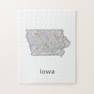 Iowa map jigsaw puzzle