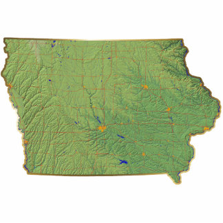 Iowa Map Magnet Cut Out