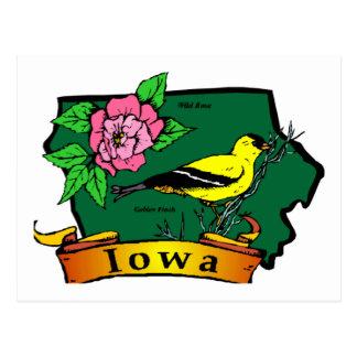 Iowa Map Postcard