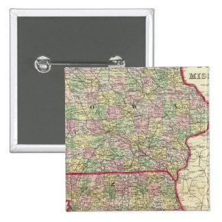 Iowa, Missouri 2 Inch Square Button