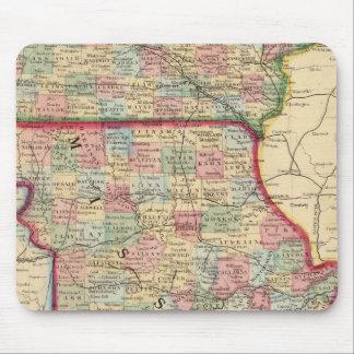 Iowa, Missouri Map by Mitchell Mouse Pad