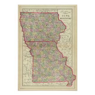 Iowa, Missouri Poster