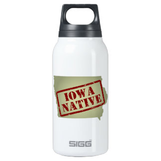 Iowa Native Stamped on Map Insulated Water Bottle