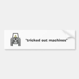 """Iowa Niza - """"hacia fuera engañadas máquinas """" Pegatina De Parachoque"""