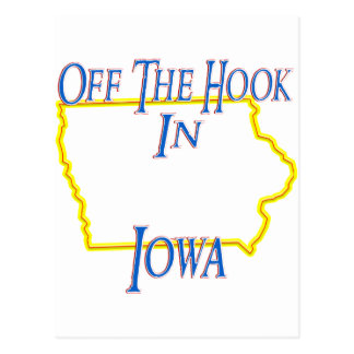 Iowa - Off The Hook Postcard