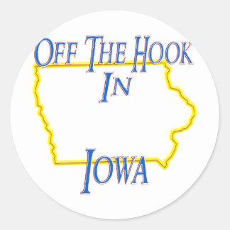 Iowa - Off The Hook Sticker