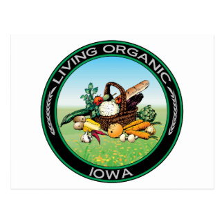 Iowa orgánico tarjetas postales