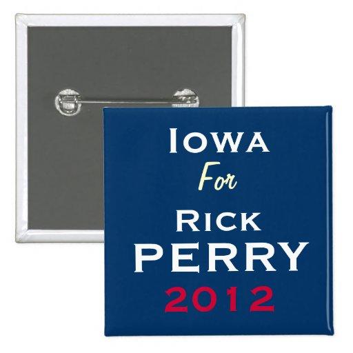 IOWA para el botón de la campaña de Rick Perry 201 Pin