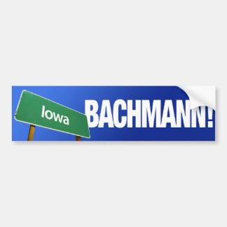 Iowa para Micaela Bachmann Pegatina Para Auto