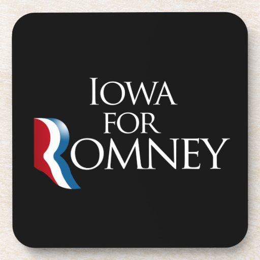 Iowa para Romney - .png Posavasos De Bebidas