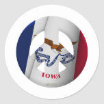 Iowa Pegatinas Redondas