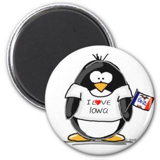 Iowa Penguin Magnet
