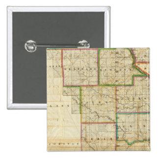 Iowa Pin Cuadrada 5 Cm