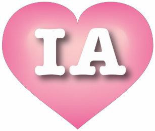 9ba5b4c1ce6 Iowa Pink Fade Heart - Big Love Baby Bodysuit