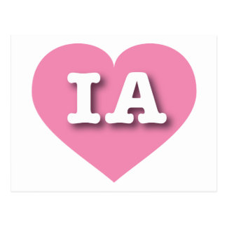 Iowa Pink Heart - Big Love Postcard
